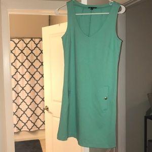 Turquoise Cotton Gap Dress Medium.